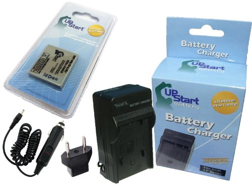 0 Battery and Charger with Car Plug and EU Adapter - Replacement for Sanyo NP-40, UF553436 Digital Camera Batteries and Chargers (750mAh, 3.7V, Lithium-Ion) ()