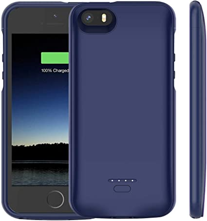 Amazon.com: Euhan - Funda con batería para iPhone 5 y 5S ...