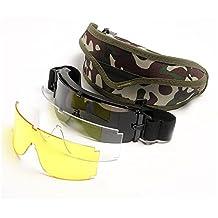 USMC Airsoft X800 Tactical Sunglasses Glasses Goggles GX1000 Black 3 Lens