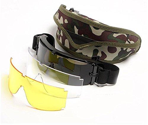 USMC Airsoft X800 Tactical Sunglasses Glasses Goggles GX1000 Black 3 - Sunglasses Usmc