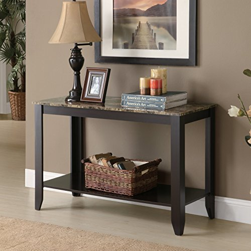 Cappuccino Faux Marble Top Console Table (Marble Top Console Tables)