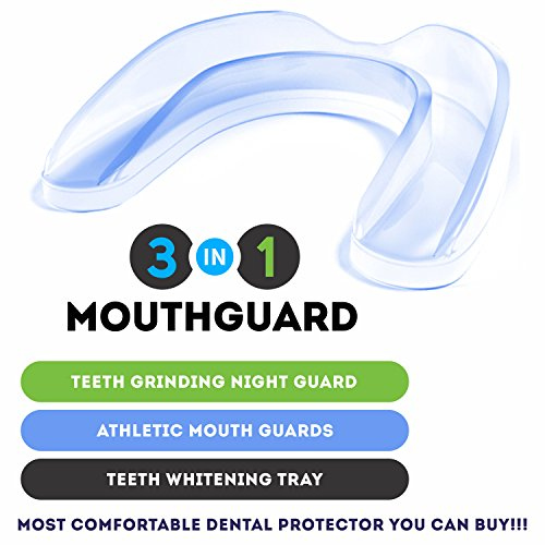 DentalCare Labs Teeth Grinding Custom Fit BPA-Free Mouldable Dental Night Guards in 2 Sizes (Pack of 4) by DentalCare Labs (Image #1)