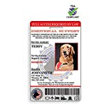 XpressID Emotional Support Animal ID Card with Holographic Overlay and Registration to Dog Registry.