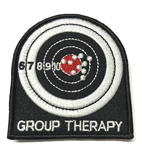 Group Therapy Tactical Morale Embroidered Patch Hook and Loop Fastener Backing America Military US World Flag Series Uniform Emblem Badge DIY Appliques Application Patches