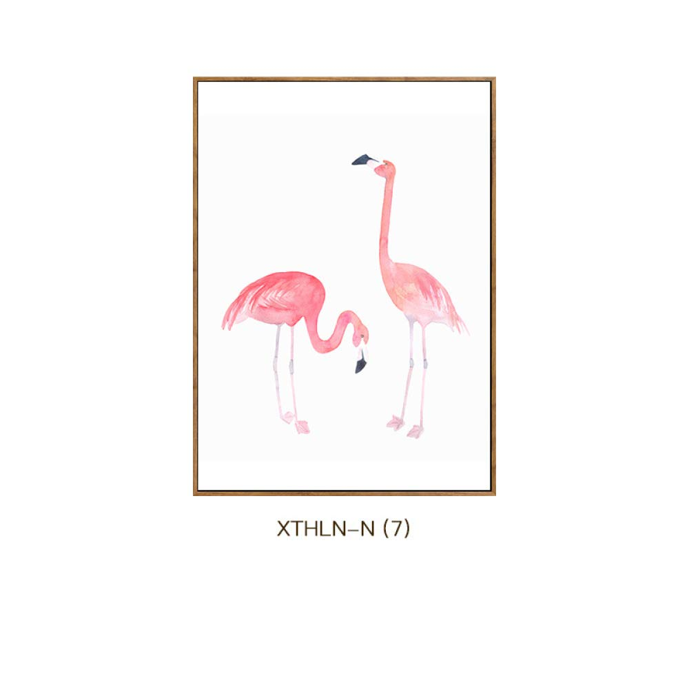STTS Flamingo modern Jane European animal prints elegant style home living room bedroom paintings, porch decorative painting,C,6080cm by STTS