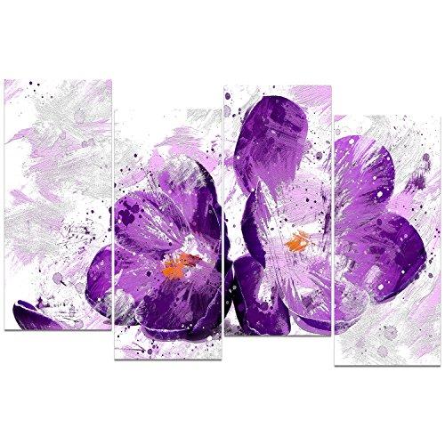 Design Art PT3421-271 ''Blooming Purple Flower'' Floral Canvas Art Print by Design Art