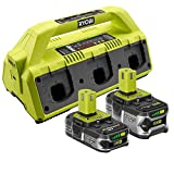 Ryobi 18-Volt ONE+ SuperCharger and 2 Lithium-Ion Batteries Kit (Certified Refurbished)
