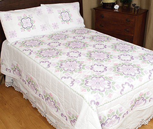 - Jack Dempsey Stamped White Quilt Top, by by Colonial