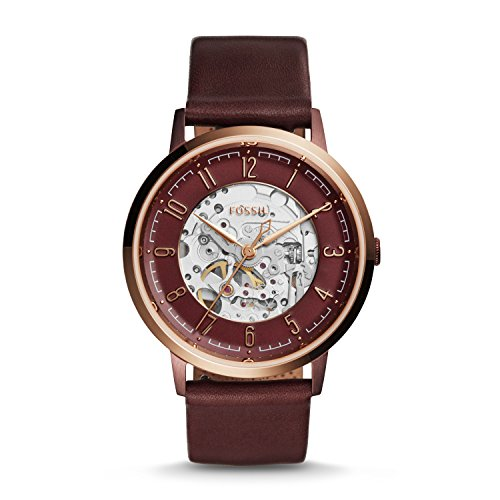 Fossil Women's ME3137 Vintage Muse Automatic Wine Leather (Automatic Leather Ladies Watch)