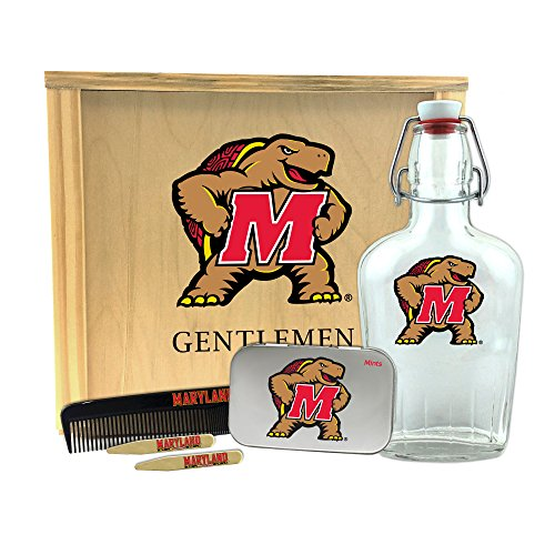 Worthy Promotional NCAA Maryland Terrapins Gentlemen's Gift Box 1-250 ml Glass Swing-Top Bottle, 10