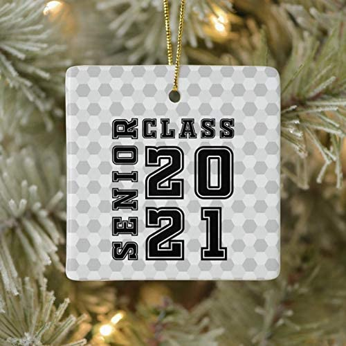 3 Inch Christmas Ornament Senior Class 2021 Ceramic Ornament Xmas Ornament Keepsake Gift Home Kitchen