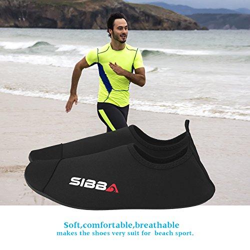 Noir Unisexe D'eau Hommes Femmes Swim Pieds Peau Exercice Yoga Surf De nouveau Plage Chaussures La Nus Pour Et Enfants EtqwTnH