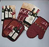 Mainstays 7 Piece Kitchen Set, Wine