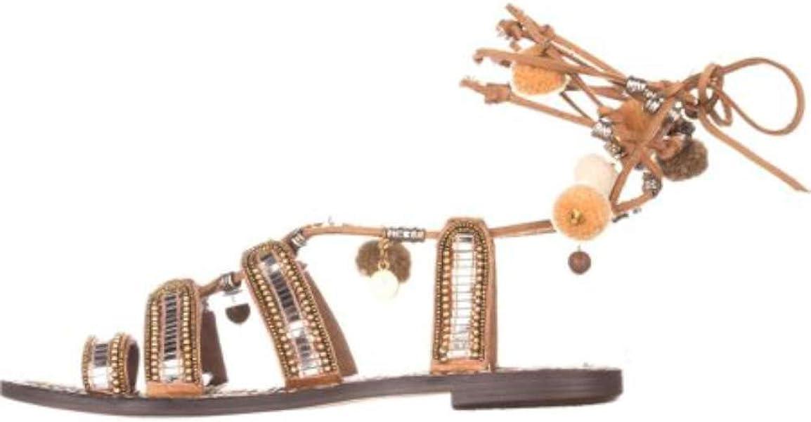 17571cabee81 Womens Graciela Leather Open Toe Ankle Wrap Slide Flats. Sam Edelman ...