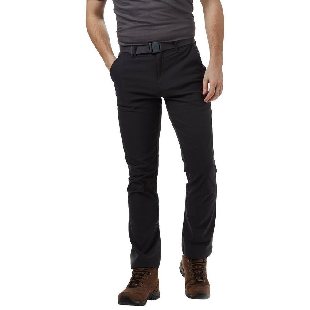Brasher schwarz  Herren Stretch Walking Hose Outdoor Bekleidung Eine Farbe, Schwarz, 86cm SL