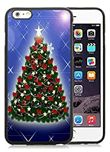 Individualization iPhone 6 Plus Case,Christmas tree Black iPhone 6 Plus 5.5 TPU Case 22