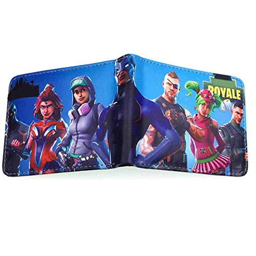 Youth Boys BI-Fold Wallet With Coin Purse For Battle Royale Tnite Video Game Gift Short Pocket 14