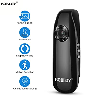 Amazon.com : boblov 1080p Full hd Mini Camera Digital Video Recorder Police Body Camera Loop Recording h.264 Camcorder Wide Angle : Camera & Photo