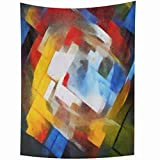 Wall Tapestries 50 x 60 Inches Abstract Geometric Picasso Oil Canvas Pastel Famous Georges Braque Matisse Van Home Decor Wall Hanging Tapestries Living Room Bedroom Dorm    Tapestry Features: *Material: Polyester fiber *Color: As pictured. *Shape:...