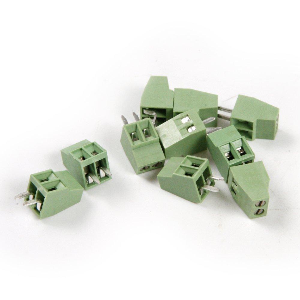 Tornillo de montaje Uctop Store de 2 polos, 2,54 mm, PCB, para conectar bloques de terminales, 30 unidades