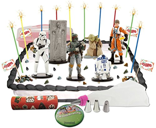 Disney Star Wars The Empire Strikes Back Deluxe Cake / Cupcake Topper Decorating Kit (Han Solo Costume Diy)