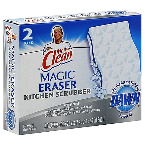 Price comparison product image Mr. Clean 2-Count Magic Eraser Kitchen Scrubber | Contains No Phosphate (2 Count)