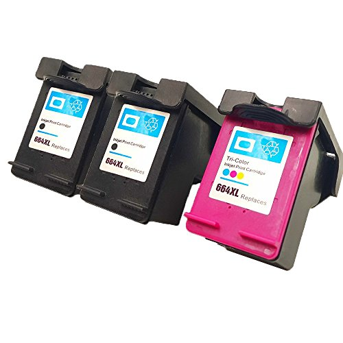 Deskjet 450 Series Printer (QINK 3 Pack Remanufactured Ink Cartridges For 664XL Black&Color Inks For Deskjet Ink Advantage Printer Series 1115 2136 3636 3836 4536 4676)