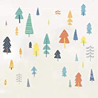 Cute Forest Trees Wall Stickers, Easy to Peel and Paste, Multicolor Woodland Tree Wall Decals for Living Room, Kids…