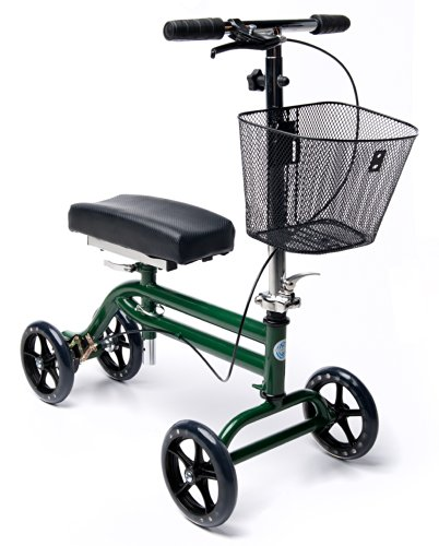 Steerable Knee Scooter Knee Walker Turning Leg Walker Crutches Alternative in Green
