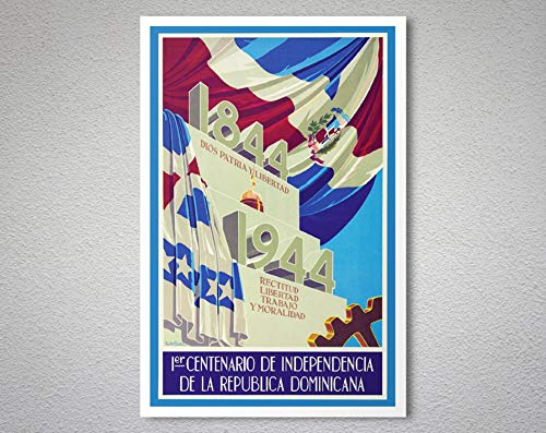 (Dominican Republic - 1er Centenario de Independencia Travel Poster - Poster Print, Sticker or Canvas Print/Gift Idea 40x60Cm No)