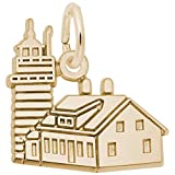 Rembrandt Charms West Quoddy Head Lighthouse, Maine Charm, 10K Yellow Gold
