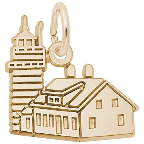 (Rembrandt Charms West Quoddy Head Lighthouse, Maine Charm, 10K Yellow Gold)