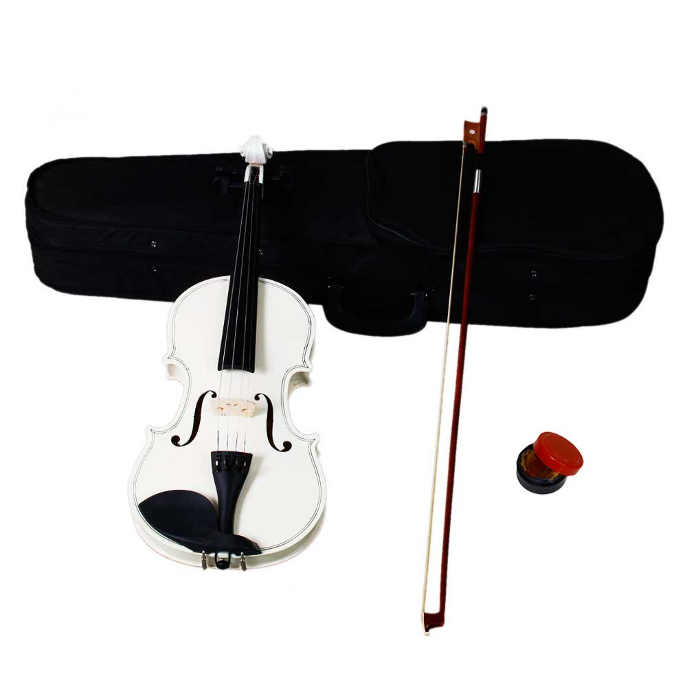 DESERT FOX 4/4 Full Size Acoustic Violin,Made from Basswood with Hard Case, Bow and Rosin (White) by DESERT FOX