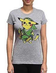 Young Motto Women's Pokemon Pikachu Zelda T-Shirt