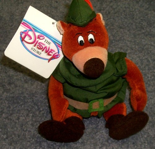 (Out of Production Disney Robin Hood Little John Bear Beanie Doll MINT with Tags)