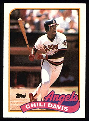 1989 Topps # 525 Chili Davis Los Angeles Angels (Baseball Card) Dean's Cards 8 - NM/MT Angels