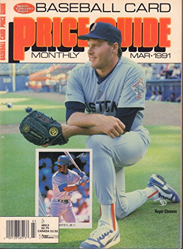 (Baseball Card Price Guide March 1991 Roger Clemens w/ Cards)