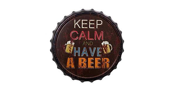 Pide X esa Boca Cartel Chapa Decorativa Keep Calm Have a Beer 33x4 ...