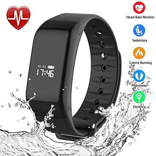 Foccoe Pulsera Inteligente,Pulsera Inteligentes Bluetooth Inteligente de Monitorización de la Salud,Contador de calorías,...