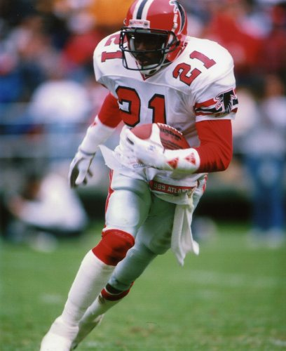 DEION SANDERS ATLANTA FALCONS 8X10 SPORTS ACTION PHOTO (A) -