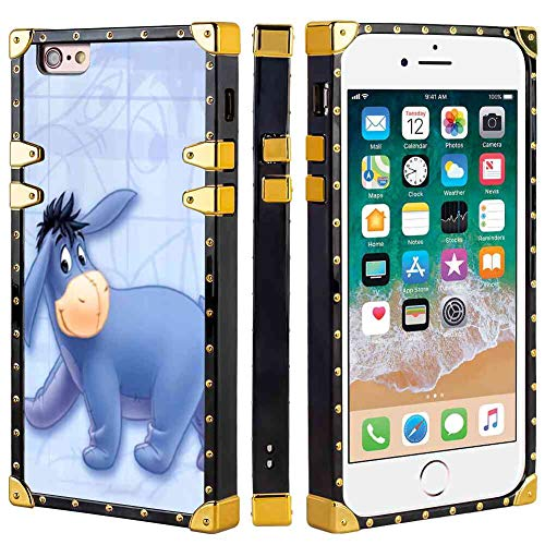 DISNEY COLLECTION Eeyore Square Edge Cell Phone Case for Apple iPhone 6S or iPhone 6