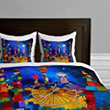 DENY Designs  Robin Faye Gates Out Of Bounds Duvet Cover, Queen