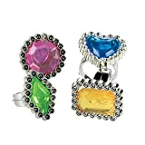 Fun Express Colorful Rhinestone Rings (6dz) - Jewelry - Jewelry General - Rings - 72 Pieces