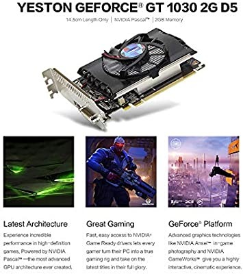 Hengyuanyi Yeston Desktop Geforce GT 1030 2Gb Gddr5 Tarjetas ...