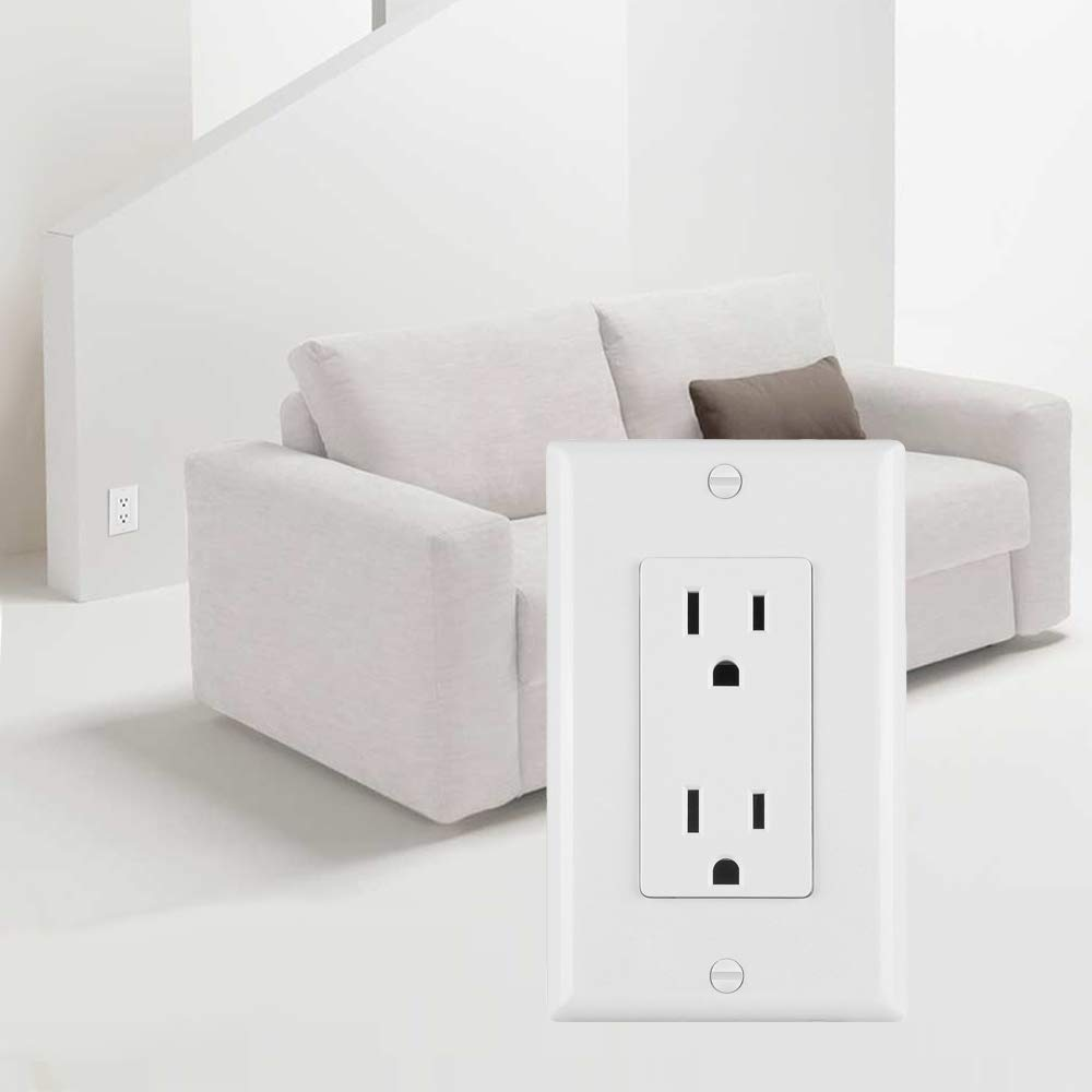 20A//125V//1875W Decorator Wall Plates and Screws Included TR ETL Certified 6-Pack ELECTECK GFCI Outlets Receptacles with LED Indicator Tamper-Resistant White