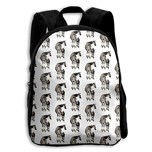 Okapi And Calf Kid Boys Girls Toddler Pre School Backpack Bags Lightweight ()