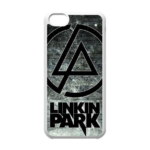 B5D80 Linkin Park F6Q5PP cas d'coque iPhone de téléphone cellulaire 5c couvercle coque blanche RT5HVH7GU