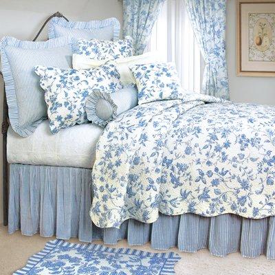 C & F Enterprises Brighton Blue Toile Quilt Set