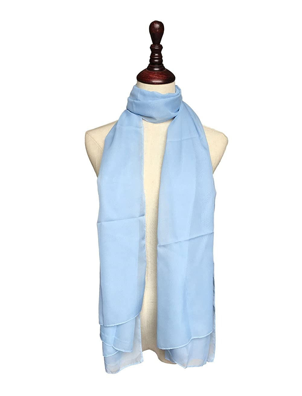 Topmode Etole /écharpe femme en mousseline polyester
