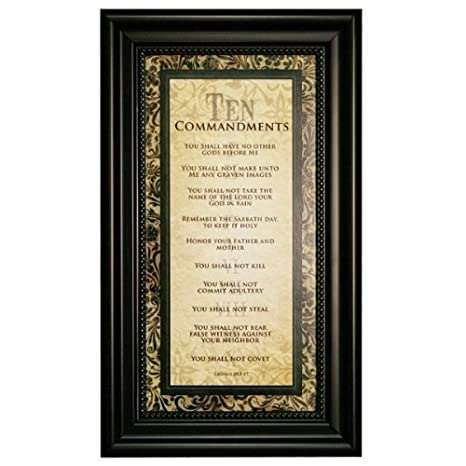 Amazoncom Carpentree 12204 Ten Commandments Framed Art 9 By 15 By